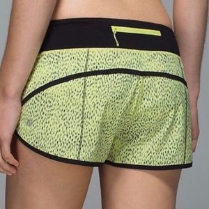 Lululemon | Speed Shorts Yellow and Black
